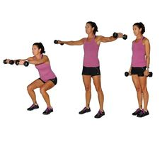 Work your entire body with efficient and challenging compound exercises: 1 Minute Iron Cross Squats