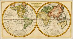 Map of the world, showing a number of the prevailing myths of mid-18th century cartography.