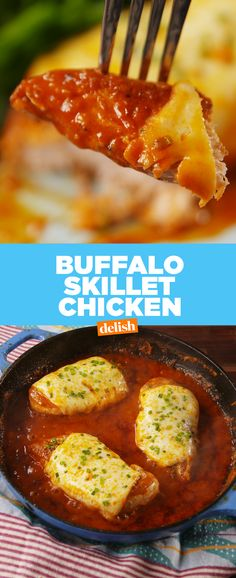 We'd eat Buffalo Skillet Chicken for every, single, meal. Get the recipe from Delish.com.