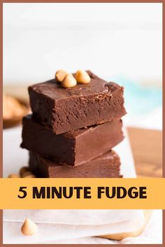 Love easy treats? This five minute fudge has a rich, chocolate taste and takes just minutes from start to finish! And it's easy to make in batches, so it's perfect for gifting. Made with Carnation Sweetened Condensed Milk, this recipe is a no fail treat! Chocolate Peanut Butter Fudge, Melting Chocolate, Chocolate Recipes, 5 Minute Fudge, Oh Fudge, Condensed Milk Recipes, Carnation, How To Make Chocolate, Candy Recipes