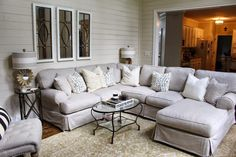 Missing our comfy couch and thinking a sectional would be wonderful!