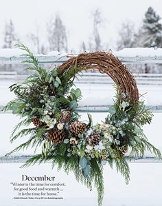 newport beach - Christmas wreath idea The be - Beach Christmas, Noel Christmas, Rustic Christmas, Winter Christmas, Christmas Crafts, Woodland Christmas, Victorian Christmas, Outdoor Christmas, Homemade Christmas
