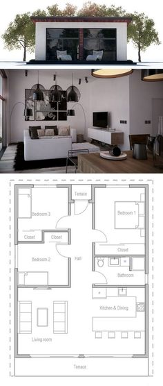 Small House Plan, VERY LOW CONSTRUCTION PRICE