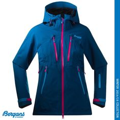 The Women's Trolltind jacket from Bergans of Norway was designed for Glacier hiking, ski touring, and skiing. Trolltind is an excellent choice for those of you who need a jacket for a wide range of activities. It is waterproof and windproof and made in comfortable 2-way stretch to ensure maximum freedom of movement. The award-winning Dermizax®NX membrane provides excellent breathability.