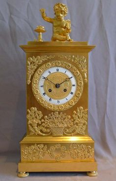 Clocks Wall 59cm Devoted Antique French Japy Freres Brass Gilt Wall Clock