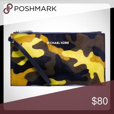 Michael Kors Bedford Calf Hair Camo Wristlet Cute wristlet is style and function all in one. Michael Kors Bags Clutches & Wristlets