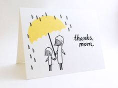 Simple Mother's Day Card // Cute I Love You by EuclidStreetShop