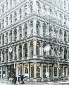 The Best Photos and Videos of New York City Nyc Snow, Vintage New York, City Of Bones, Snowy Day, New York Travel, City Buildings, Great Shots, Soho, New York City