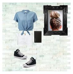 """Going out with style"" by sofipisarova ❤ liked on Polyvore featuring WALL, Current/Elliott, Miss Selfridge, Converse, Burberry and Linda Horn"