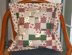 Country line bordo-green-vankúšik by Emma1 - SAShE.sk - Handmade Úžitkový textil