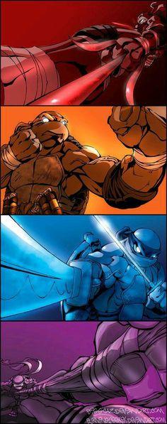 Another great series of character crops on the Teenage Mutant Ninja Turtles by: BiggCaZ on deviantART Arte Dc Comics, Bd Comics, Ninja Turtles Art, Teenage Mutant Ninja Turtles, Teenage Turtles, Ninja Art, Ps Wallpaper, Thundercats, The Villain
