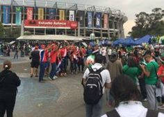 Afición de Costa Rica causa caos previo al partido