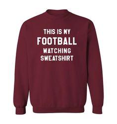 Watch Football, Garnet, Size Chart, Military Families, Graphic Sweatshirt, Pullover, Sweatshirts, How To Wear, Shopping