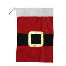 Santa Claus Belt Buckle Christmas Gift Bag Sack