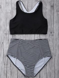 SHARE & Get it FREE | Striped High Waisted Bikini SetFor Fashion Lovers only:80,000+ Items • New Arrivals Daily Join Zaful: Get YOUR $50 NOW!