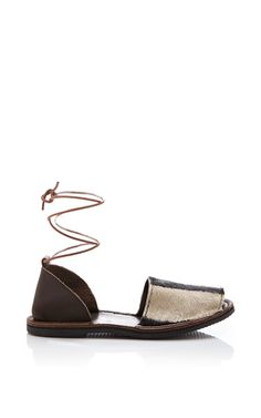 Brother Vellies Zebra Congo Sandal by Brother Vellies for Preorder on Moda Operandi