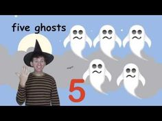 Halloween Numbers Song for Kids - YouTube. Really simple and cute!  Pinned by www.preschoolspeechie.com