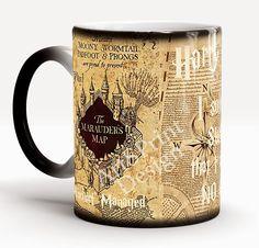 Harry Potter Mug, Marauders Map, Harry Potter Map, Harry Potter Cup, Magic Mug