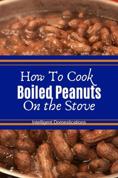 You can cook Boiled Peanuts on your stove. It's a Saturday thing at our house. Tailgating food and Fall bonfire food too! No need to run out to a roadside stand when you can cook your own. Boiled peanuts are super cheap to make. They can be frozen too! Peanut Brittle Recipe, Peanut Recipes, Crockpot Recipes, Snack Recipes, Cooking Recipes, Cod Recipes, Carrot Recipes, Cabbage Recipes, Broccoli Recipes