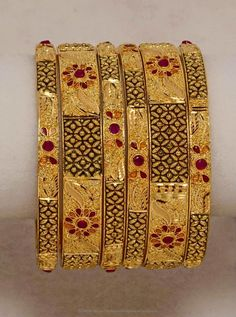 Gold Plated Bangles, Gold Plated Bangle Designs.
