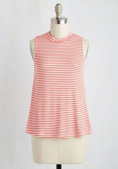 On the Cookout Top. The grills on and youre heating up the patio in this mock turtleneck top! #orange #modcloth