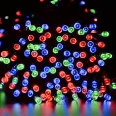 LED Solar String Lights - Multi-Color LEDs) - Christmas Xmas Wedding Tree Party Garden Waterproof Light , availble at WYZ works Pulse Light, Light Up, Solar Led String Lights, Tree Wedding, Xmas, Christmas, Solar Power, Decoration, Garden