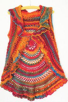 Crochet Pattern: Lace Circular Vest (a doily to wear!)
