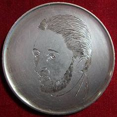 ART DELFAVERO HOBO COIN - CINCO POR CINCO - 1957 MEXICAN 5 PESOS Hobo Nickel, Modern Times, Classic Style, Cactus, Coins, Mexican, Carving, Scrapbook, Art