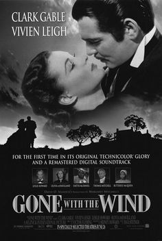 Gone with the American epic historical romance film Starring Vivien LeighClark Gable Hattie Mcdaniel, Margaret Mitchell, Romance Film, Vivien Leigh, Gone With The Wind, Historical Romance, Great Movies, Soundtrack, First Time