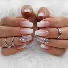 70 Wedding Natural Gel Nails Design Ideas for Bride 2019 Page 53 of 71 Soflyme Wedding Gel Nails, Wedding Nails Design, Bridal Nails, Prom Nails, Wedding Makeup, Cute Acrylic Nails, Gel Nail Art, Glitter Nails, Cute Nails