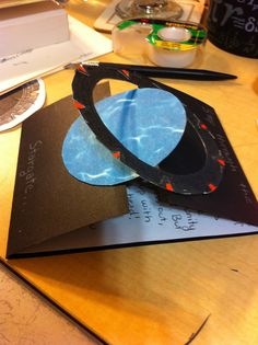 """Literally a """"gate"""" fold card. A Stargate that is! From my sister's birthday."""