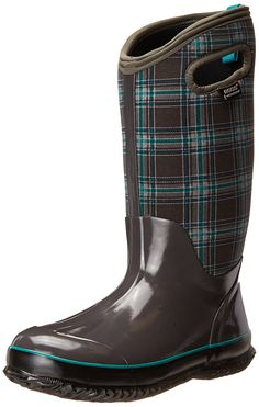 Bogs Women's Classic Winter Plaid Tall Snow Boot * Click on the image for additional details.