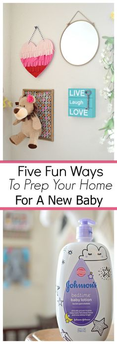 Five Fun Ways To Prep Your Home For A New Baby #giftingforbaby #ad