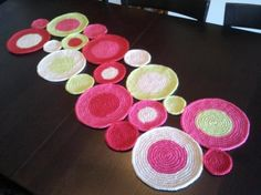 camino mesa crochet de lana  lana crochet