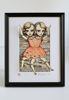 Conjoined twins paper doll (http://etsy.com/shop/mabgraves) i would love a bunch of paperdolls printed on bristol board in wierd style or victorian style or old school pin up!!!!!!!!! then i could craft to my hearts content!!!!!!
