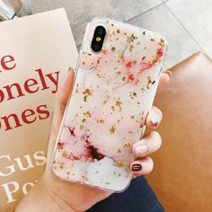 Luxury Gold Foil Bling Marble Phone Case Cover For iPhone 8 Plus 7 Plus XS Max XR 3