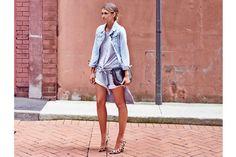 Elle Ferguson of @TheyAllHateUs I @Vogue Australia Style Spy. Makeup by @Tobi Henney using #Modelco