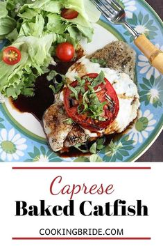 Liven up your weekday dinner with these quick but delicious seasoned baked catfish fillets topped with melted cheese, tomato and fresh basil. Catfish Recipes, Seafood Recipes, Quick Recipes, Healthy Recipes, Meal Recipes, Healthy Food, Baked Catfish Fillets, Southern Recipes, Southern Food