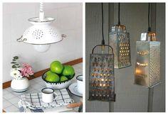 Lámparas con materiales reciclados