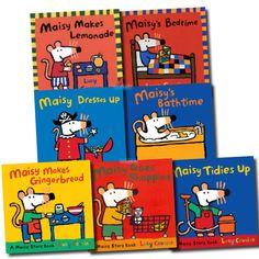 Lucy Cousins has written many wonderful Maisy books.  My favorites are Maisy's Weather, Maisy's Seasons, Maisy' Alphabet, and Maisy's Word Book.