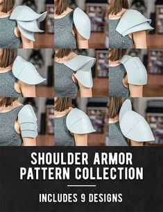 Foam Masks and Ears Pattern Collection - Kamui Cosplay - Shoulder Armor Pattern. - Foam Masks and Ears Pattern Collection – Kamui Cosplay – Shoulder Armor Pattern Collection – - Sith Armor, Mandalorian Armor, Knight Armor, Daedric Armor, Deku Cosplay, Cosplay Diy, Female Cosplay, Tutorial Cosplay, Costume Ange