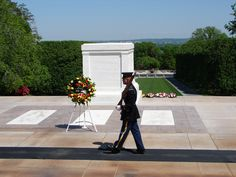 Guarding the Tomb of the Unknowns, Arlington National Cemetery in Arlington, Virginia.  Thank You Veterans