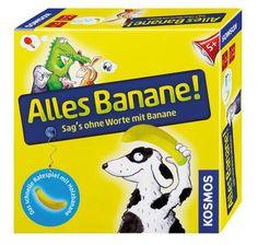 Spiel* Alles Banane! Sag�s ohne Worte mit Banane. Das schnelle Ratespiel mit Holzbanane.