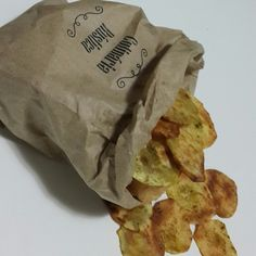Chips de batata doce.