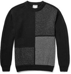 Wooyoungmi - Panelled Wool-Blend Sweater|MR PORTER