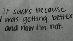 depressed depression sad suicidal suicide skinny hate fat self ...