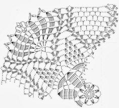 Square doily crocheted