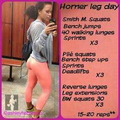 Ashley Horner Leg Day Routine