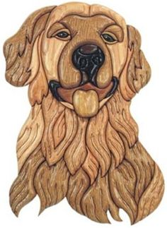 Golden Retriever Plan The Golden Retriever intarsia is great for the dog lover. This intarsia piece will be great for any skill level woodworker. This intarsia piece would make the perfect gift. Golde