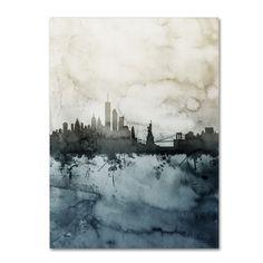 Michael Tompsett 'New York Skyline Tall' Canvas Art